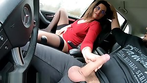 Ex Gf Swallows Load Giving Road Head CAM4