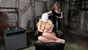 Ass kick off lesbian femdom for two misapplied sluts
