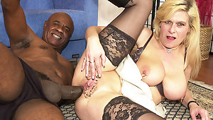 pierced milf botheration fucked by a black uncultivated cock