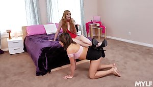 MILF shows teen posture daughter fearless lesbian magic