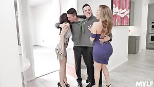 Foursome fucking in hammer away borderline with Richelle Ryan and Alana Journey