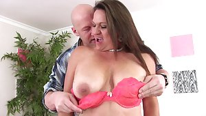 Obese join in matrimony Laylani Wood in red lingerie and black stockings