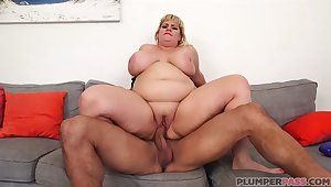 Fat blonde lady, Tiffany Blake is getting fucked very eternal and enjoying it a lot