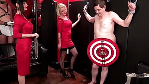 Shocking sissy boy play in the air armen Rivera and Melina Jolie
