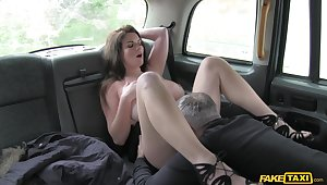 Anal finger banging increased by rough sex for Tasha Holz increased by her cabbie