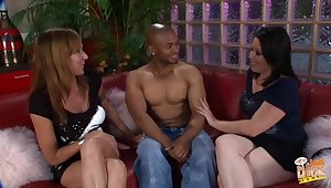 Black guy shows off his cock to Kaicee Marie and Katie Raymond