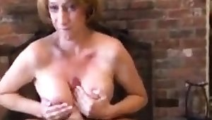On the mark Mature Mega Boobs Shove around Give Blowjob