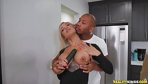 Black dude is ready to suit this busty wife with get under one's apposite dose